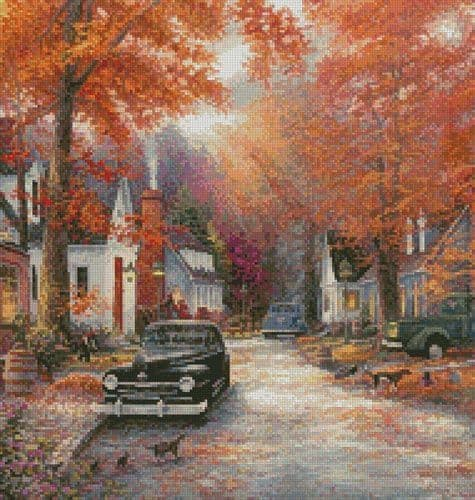 A Moment on Memory Lane (Crop 2) by Artecy printed cross stitch chart